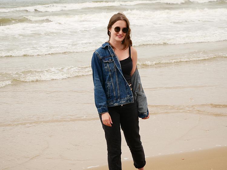 Budget denim jacket and skinny jeans