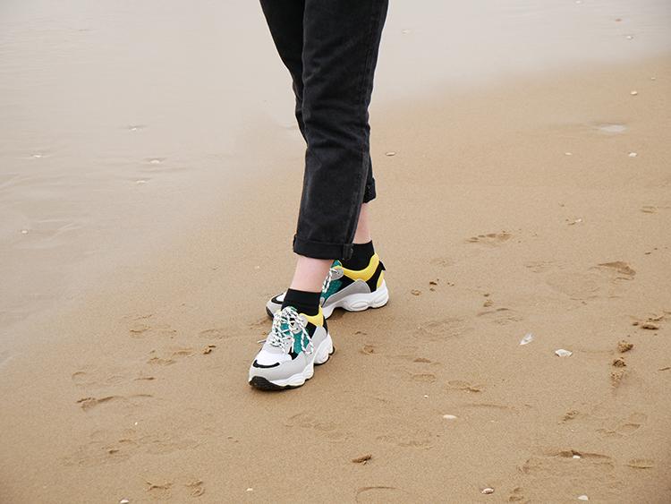 Claudia Ghizzani geel groene sneakers
