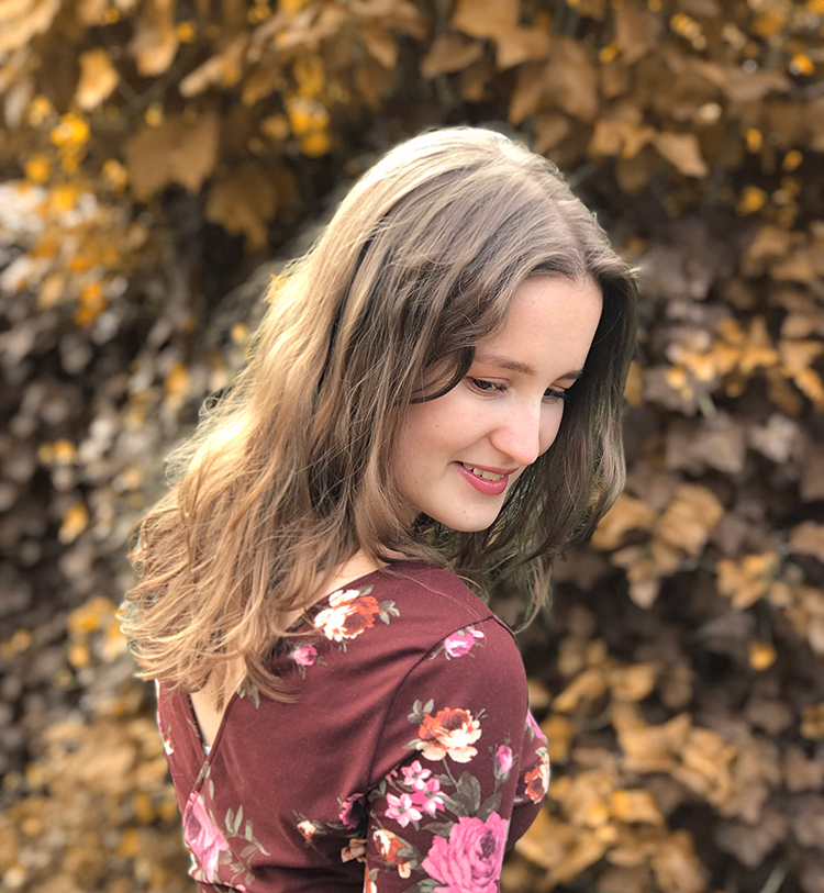 Burgundy flower dress