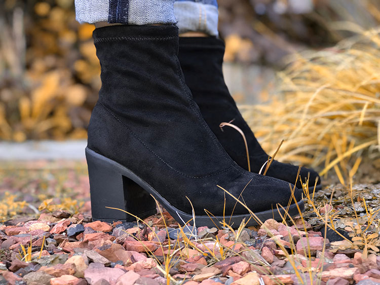 Boots with a chunky heel