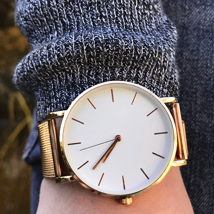 Cheap rose gold watch | (Only 2 euros!)